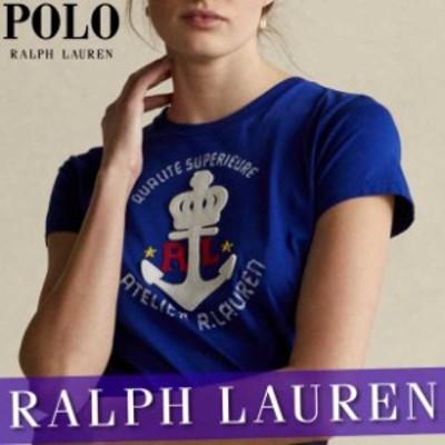 ポロ ラルフローレン Tシャツ 半袖 レディース ウィメンズ グラフィック アンカー プリント ロゴ 丸首 XS~XL トップス 新作 RL