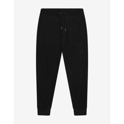 ラルフ ローレン Ralph Lauren Purple Label メンズ スウェット・ジャージ ボトムス・パンツ Black Logo Embroidery Sweat Pants Black