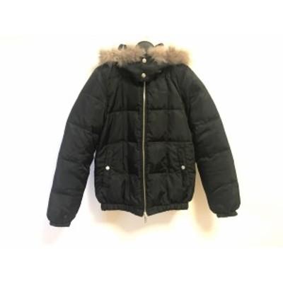 エックスガール X-GIRL ダウンジャケット サイズ1 S レディース 美品 - 黒 長袖/冬【中古】20210124