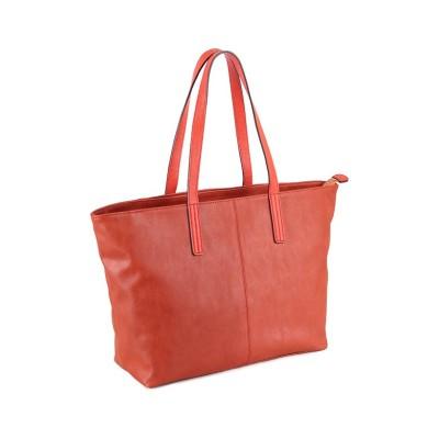 【カバンのセレクション】 アンクール Un coeur トートバッグ メンズ ブランド ファスナー付き A4 311285 ユニセックス オレンジ フリー Bag&Luggage SELECTION