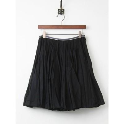 【セール20%OFF!】Lois CRAYON ロイスクレヨン コットン ボリューム スカート M/ブラック ボトムス フレア 黒 2400010699610
