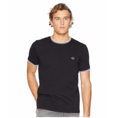 フレッドペリー メンズ シャツ トップス Twin Tipped Ringer T-Shirt Black
