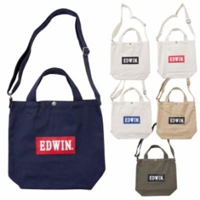 エドウイン EDWIN トートバッグ 2WAY ロゴ キャンバス レディース メンズ 22229066 ラッピング不可