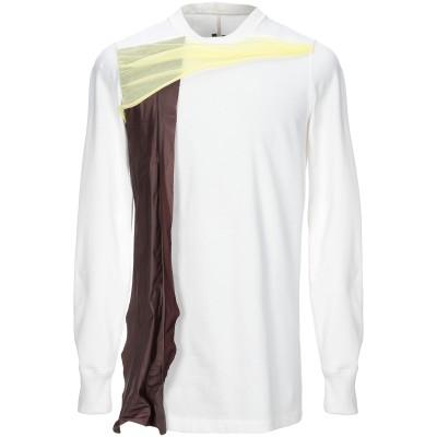 リック オウエンス RICK OWENS スウェットシャツ ホワイト S コットン 100% スウェットシャツ