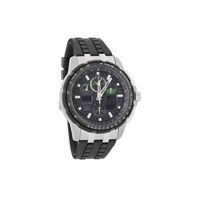 腕時計 シチズン Citizen Skyhawk A-T Mens Alarm Flight Eco-Drive Chronograph Watch JY8051-08E
