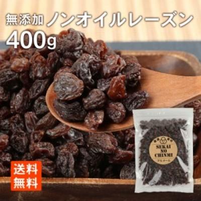 レーズン 無添加 ノンオイルレーズン 400g 1000円ポッキリ メール便 送料無料 世界の珍味 グルメール SEKAINOCHINMI
