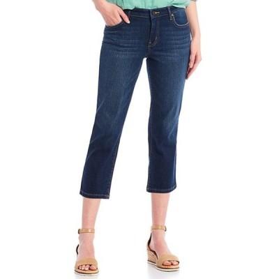 コード ブルー レディース デニムパンツ ボトムス Petite Size Classic Straight Leg Cropped Capri Jeans
