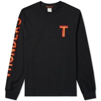 ミスターサンダース Mr Thunders メンズ 長袖Tシャツ トップス Long Sleeve Tee Black
