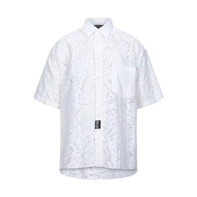 VERSACE JEANS COUTURE 無地シャツ  メンズファッション  トップス  シャツ、カジュアルシャツ  長袖 ホワイト