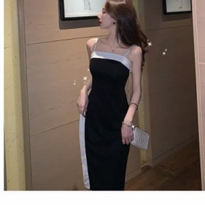 大きいサイズ ペプラム ワンピース タイト ドレス プチプラ ワンショルダー 肩リボン ミディ丈 バイカラー ペプラム 大きいサイズ 新作