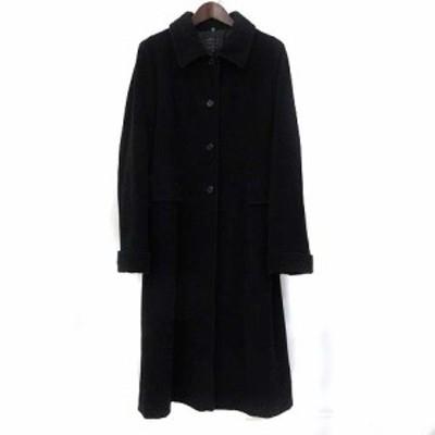 【中古】コムサ COMME CA ステンカラー コート 9 M ウール 無地 シンプル レディース