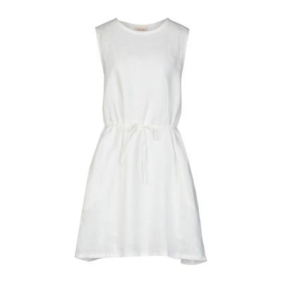 アメリカン ヴィンテージ AMERICAN VINTAGE ミニワンピース&ドレス ホワイト S リネン 100% ミニワンピース&ドレス