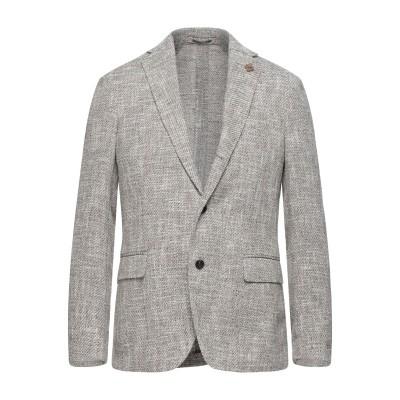 ラルディーニ LARDINI テーラードジャケット ベージュ 48 コットン 40% / リネン 23% / アクリル 23% / ナイロン 14%