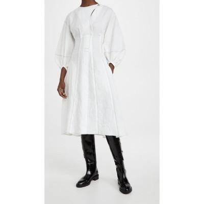 デヴォー Deveaux レディース ワンピース ワンピース・ドレス Charlotte Crinkle Dress White