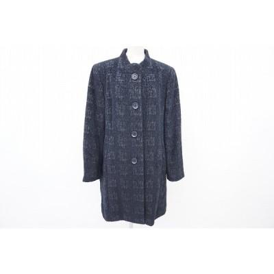 #wnc レマロン remalon コート 黒 ウール アンゴラ混 美品 レディース [568251]