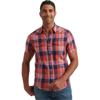 ラッキーブランド Lucky Brand メンズ 半袖シャツ ウエスタンシャツ トップス Short Sleeve Mesa Western Shirt Red Plaid