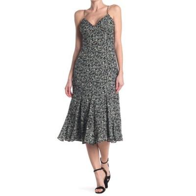 アドレイン ラエ レディース ワンピース トップス Floral Print Fit and Flare Midi Slip Dress BLACK MULTI