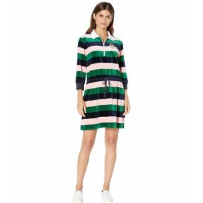 Juicy Couture ジューシークチュール ドレス 一般 Rugby Stripe Velour Polo Dress