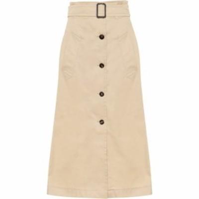 マックスマーラ S Max Mara レディース ひざ丈スカート スカート Lisotte cotton midi skirt