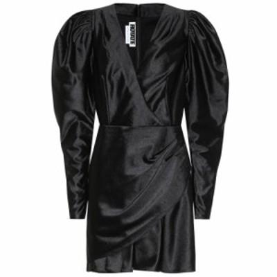 ローテート ROTATE BIRGER CHRISTENSEN レディース パーティードレス ワンピース・ドレス Puff-sleeve satin minidress Black