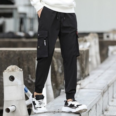 メンズ長ズボン大きいサイズゆったりジョガーパンツスウェットパンツカジュアル人気新作kz08