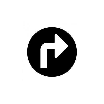 ソーシャルディスタンス シンプル案内シート 矢印右・黒    約29×29cm 同梱・代引不可