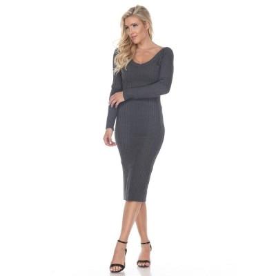 ホワイトマーク ワンピース トップス レディース Women's Destiny Sweater Dress Charcoal