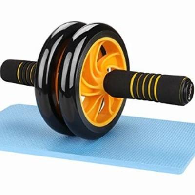 AUOPLUS 腹筋ローラー アブホイール 2輪 膝マット付き 男性 女性 初心者 上級者 アブローラー 腹筋 トレーニング 筋トレグッズ ダイエッ
