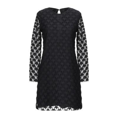 メルシー ..,MERCI ミニワンピース&ドレス ブラック 44 コットン 66% / ナイロン 34% ミニワンピース&ドレス