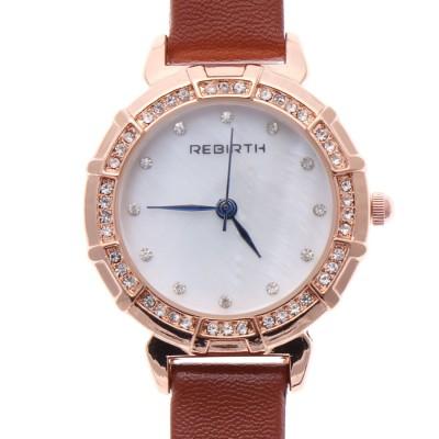 スマイルプロジェクト SMILE PROJECT リバース REBIRTH セイコームーブメント 日常生活防水 シェル風文字盤のレザーベルト腕時計 BRW (BRW)