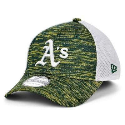 ニューエラ 帽子 アクセサリー メンズ Oakland Athletics English Knit Neo 39THIRTY Cap Green/White