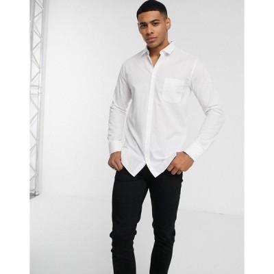ボス メンズ シャツ トップス BOSS Magneton slim fit shirt in white White