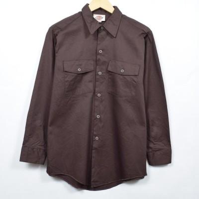 ディッキーズ 長袖 ワークシャツ USA製 メンズS /eaa032700