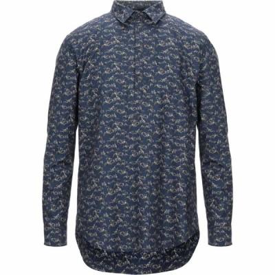 メッサジェリエ MESSAGERIE メンズ シャツ トップス patterned shirt Dark blue