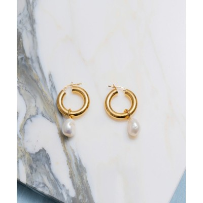 MAISON SPECIAL / 【Wolf Circus/ウルフサーカス】PEARLHOOPS LARGE【MAISON SPECIAL/メゾンスペシャル】 WOMEN アクセサリー > ピアス(両耳用)