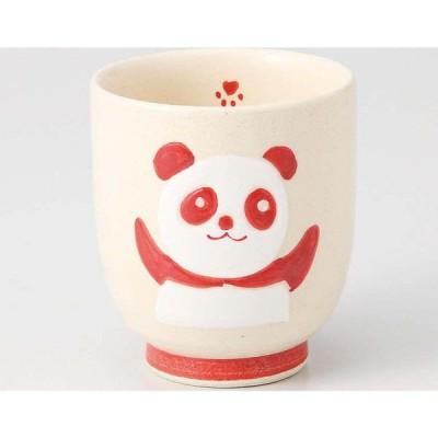 西海陶器 赤パンダ 湯呑 70443 6個(直送品)