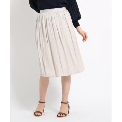 SunaUna(スーナウーナ) 【洗える】マットサテンギャザースカート