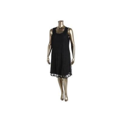 ドレス 女性  アルファーニ Alfani 9570 レディース Lace A-Line Contrast Trim Wear to Work ドレス Plus