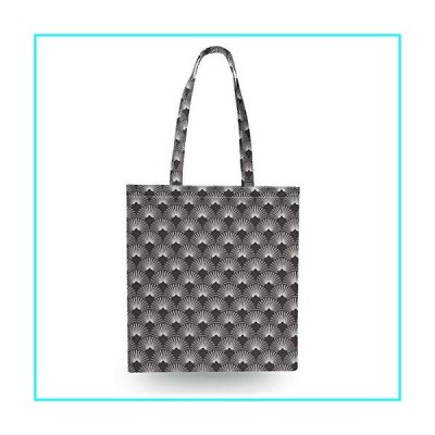 Canvas Tote Bag - Art Deco Monochrome