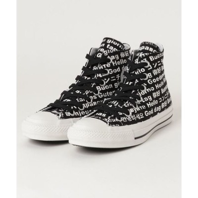 スニーカー CONVERSE ALL STAR 100 MULTILINGUAL HI (BLACK)