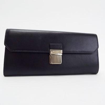 ミュウミュウ 二つ折り長財布 パスケース付き ブラック 中古 Aランク MIU MIU |女性用 レディース 財布 ウォレット 定期入れ ブランド