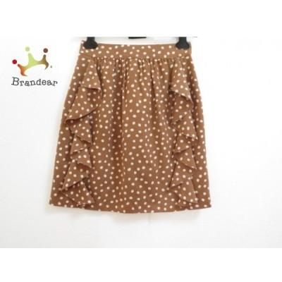 エストネーション ESTNATION スカート サイズ36 S レディース 美品 ブラウン×アイボリー                 スペシャル特価 20191028