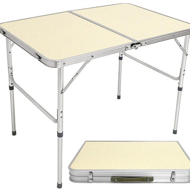 90X60輕便鋁合金手提折疊桌.摺疊桌折合桌摺合桌.和室桌簡易床上桌辦公桌.戶外桌野餐桌旅行休閒懶人桌B010-8809