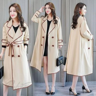 香港風 レディース コート カジュアル 通勤 OL おしゃれ 2色 長袖 着やせ 上品 キレイめ 20代 30代40代