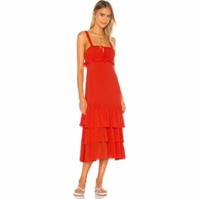 プライバシー プリーズ Privacy Please レディース ワンピース マキシ丈 ワンピース・ドレス Lucille Maxi Dress Blood Orange