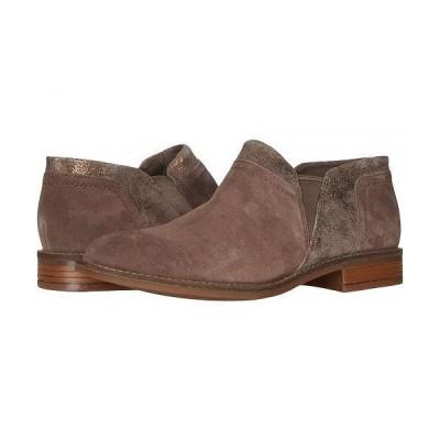 Clarks クラークス レディース 女性用 シューズ 靴 ブーツ アンクル ショートブーツ Camzin Mix - Dark Taupe Suede Combination