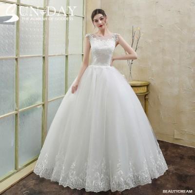ウェディングドレス ウェディングドレス白 パーティードレス 可愛いレース 花嫁ロングドレス 結婚式 トレーンライン 二次会 エレガント お呼ばれ 挙式hs5493