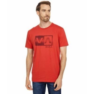 ルーカ メンズ シャツ トップス Balance Box Short Sleeve Tee Warm Red