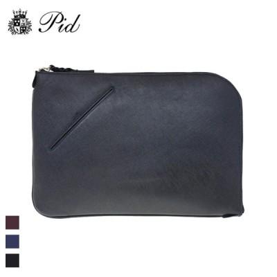 PID/ピー・アイ・ディー  Selva/セルヴァ PAP101 ユニセックス レザー クラッチバッグ  (ブラック)