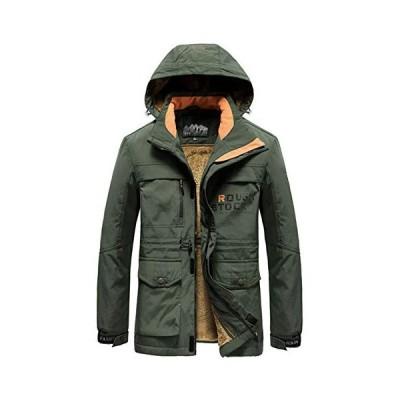 ZHPUAT メンズ ダウンコート アウターコート モッズコート ダウンジャケット アウトドア 裏起毛 中綿 厚手 防寒 防風 暖かい ウィ